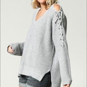 Sweaters - Cold Shoulder Pullover sweater